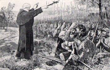 যুদ্ধ শুরুর আগে স্কটিশদের সমবেত প্রার্থনা