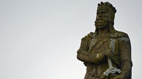 স্টারলিং দুর্গে রাজা রবার্ট ব্রুসের প্রতিকৃতি